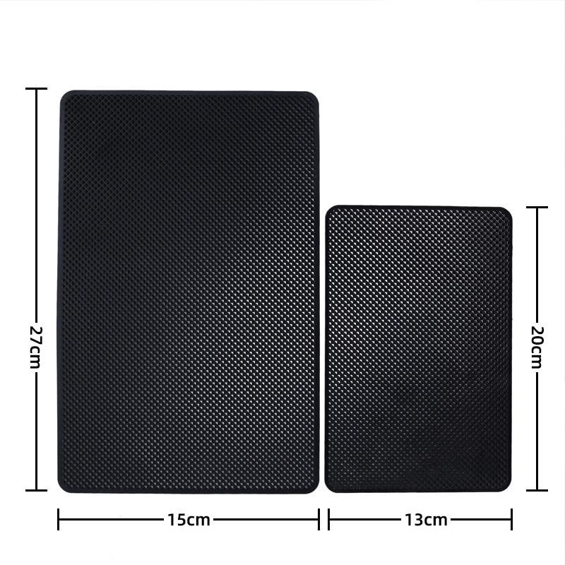 Car Dashboard Sticky  For Phone Sunglasses Holder Anti-Slip PVC Mat Auto Non-Slip Sticky Gel Pad Car Styling Interior 5