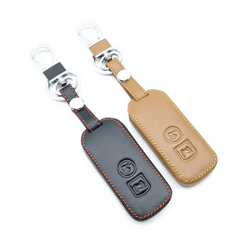 High-quality car leather keychain key chain cover case for <font><b>Honda</b></font> PCX 150 hybrid X-ADV <font><b>SH125</b></font> Scoopy SH300 Forza 125 2 buttons image
