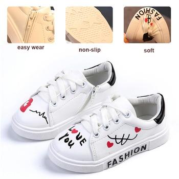 Zapatos para niños, zapatos para niños pequeños, zapatillas de deporte a la moda para niñas, zapatillas de cuero para niños, calzado deportivo para niños talla grande 21-26