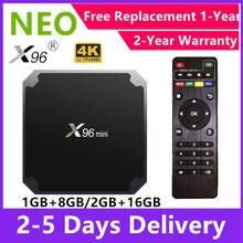 Venda quente código neotv pro x96 mini smart hd caixa de tv android 9.0 bluetooth s905 quad core 8g 16g jogador neo tv pro 2 conjunto caixa superior