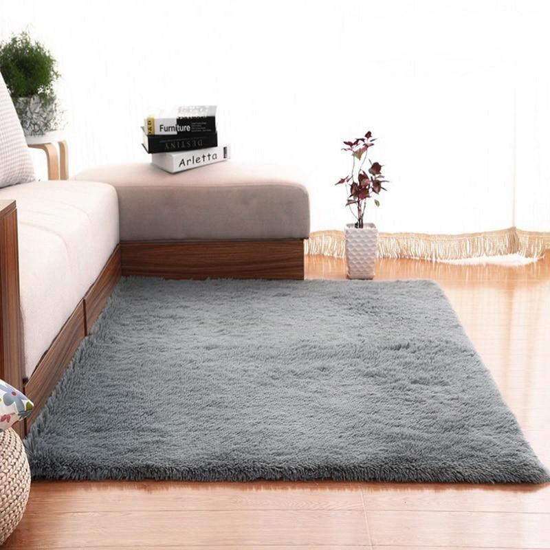 Modern Super Soft Rectangle Carpet  Fluffy Rugs Anti-Skid Shaggy Area Rugs Livingroom/Bedroom Carpets Home Deco