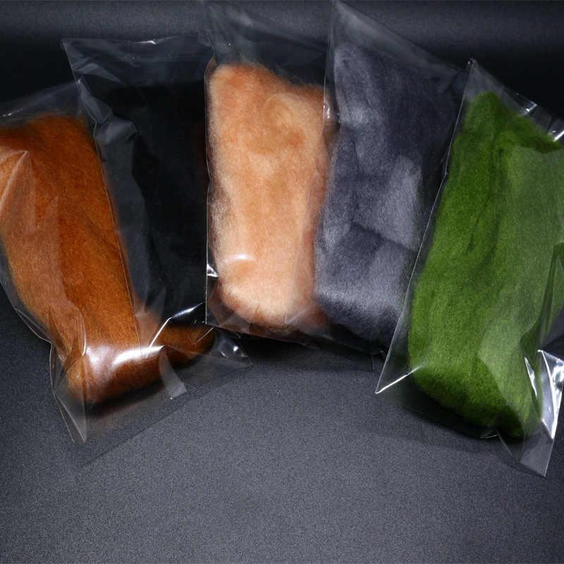 Royalsissi 2 pacotes premium fly amarrando fio de ovo minnowfish isca fluff fibras sintéticas salmão truta voar padrão mosca amarrar materiais