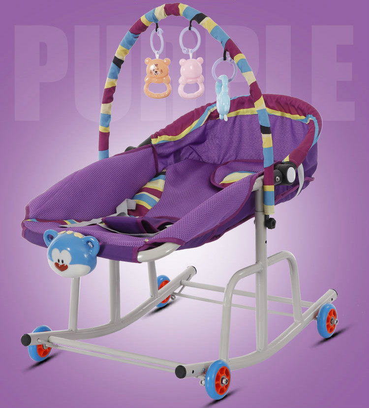 Hc8dfd5911def428daf9e41118d8858edE Baby  Rocking Chair Music Nursery Child Toy Rocking Chair Baby Rocking Horse Infant Seat Bouncer Swing Cradle Recliner Bouncer