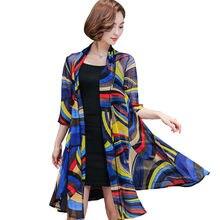 2019 de alta qualidade Kimono Cardigan Mulheres tops Blusas Camisas Plus Size Blusas de Chiffon Camisas de Praia Roupas xale