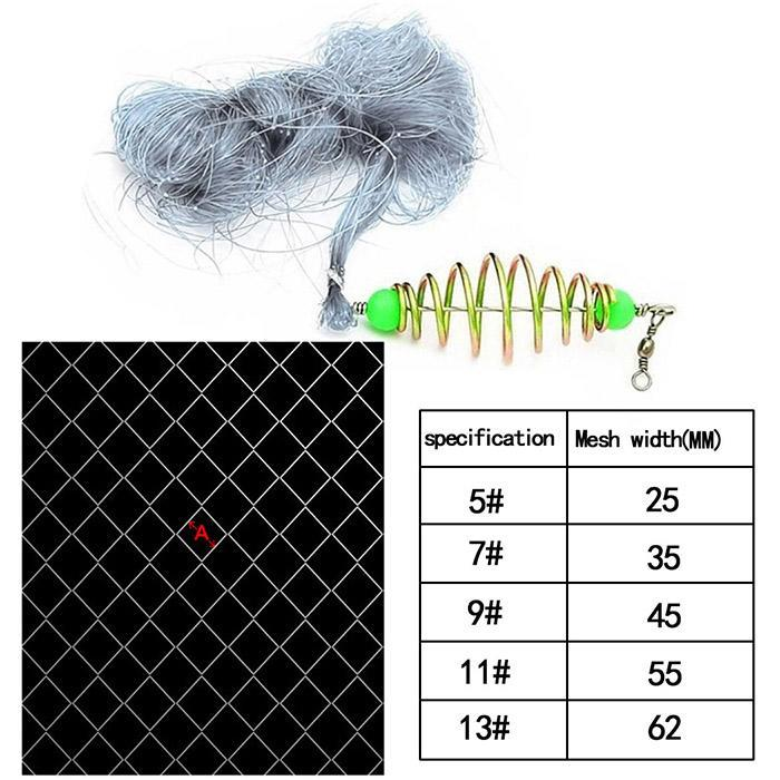 New Fishing Net Play Trap Design Fishing Mesh Net No Need Hooks Copper Spring Shoal Fishing Net Netting Fishing Tackle