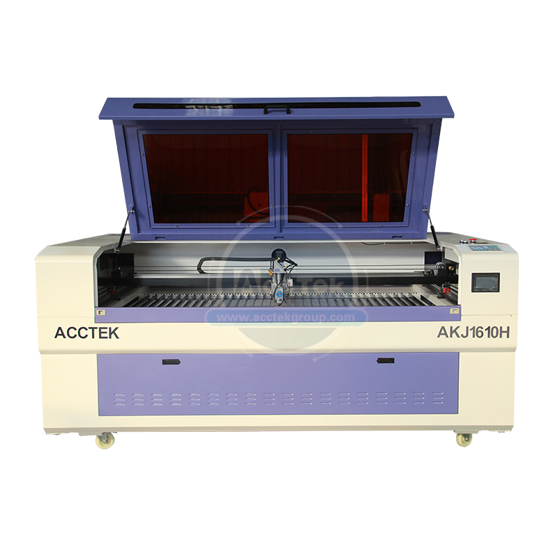 High speed AccTek AKJ1610H 130W/150W/180W/280W/<font><b>300W</b></font> <font><b>CO2</b></font> metal <font><b>laser</b></font> cutting machine image