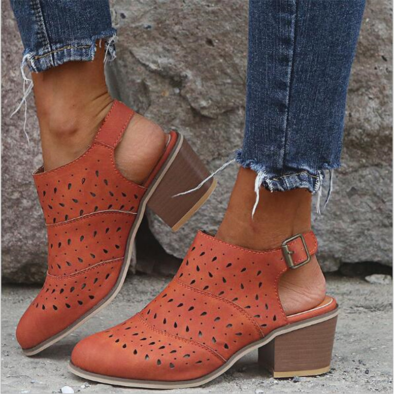 2020 Ankle Strap Chunky High Heels Women Pumps Elegant Ladies Wedding Shoes Woman Shoes Drop Shipping
