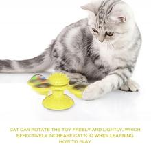 Zabawkowy wiatrak dla kota Puzzle wirujący gramofon z pędzelkiem gra dla kota zabawka interaktywna dla kota zagraj w zabawki dla zwierząt domowych tanie tanio Piłki cats Z tworzywa sztucznego