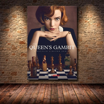 Chess Life The Queens Gambit Picture Printed On Canvas 1