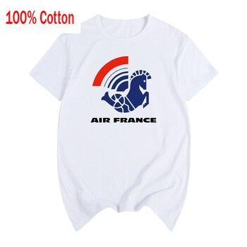 الهواء فرنسا Vintage شعار تي شيرت القطن الرجال تي شيرت جديد المرأة الصيف مريحة المحملة