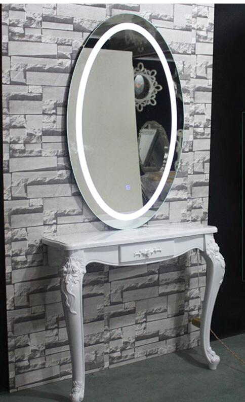 Gouling Barber's Whole Body Mirror With Lamp Hair And Beauty Mirror Table Luminescent Mirror Wall-mounted LED Lamp Rectangular M