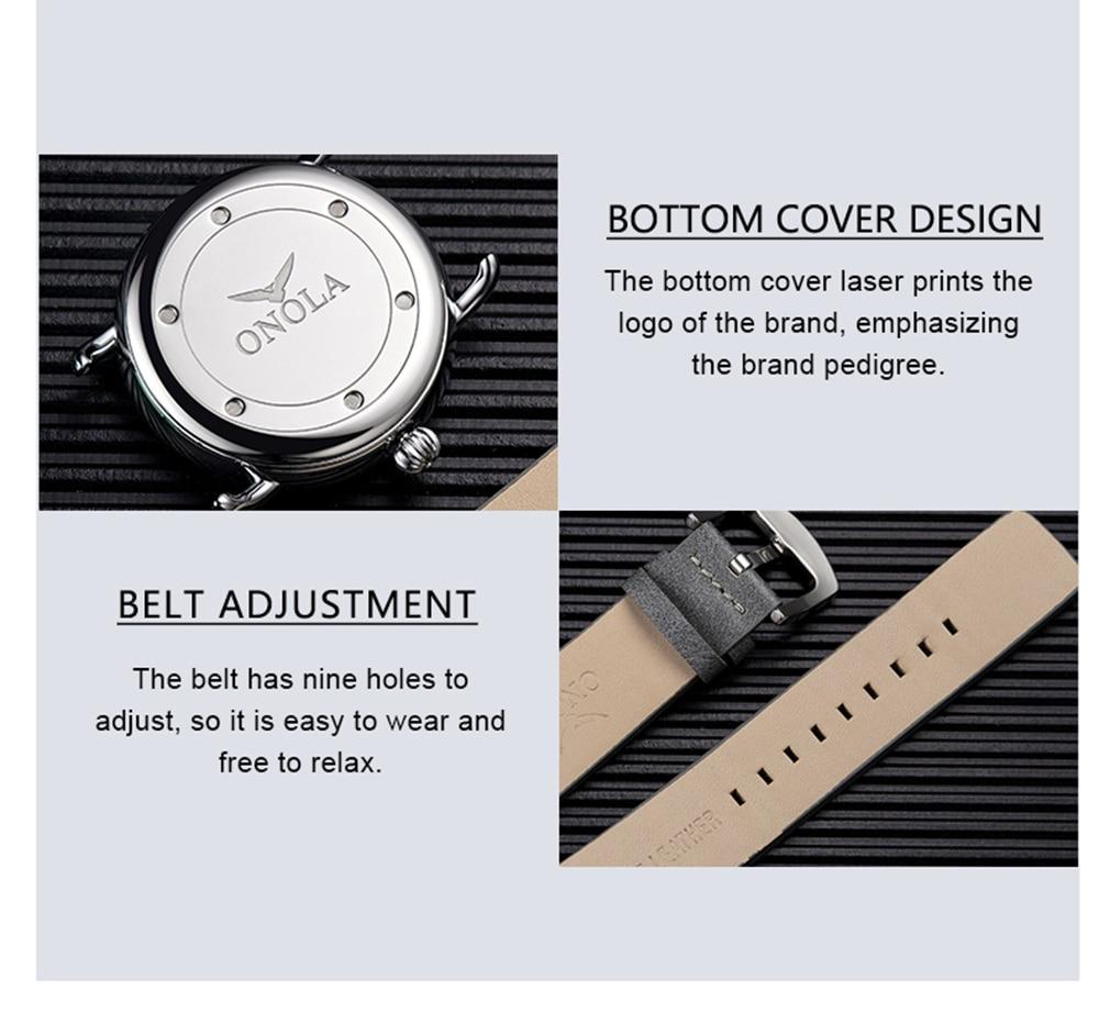 Hc8e09e5b14134eccb42edb42d26af236A ONOLA top brand leather men watches clock fashion sport simple casual waterproof Wrist watch men relogio masculino