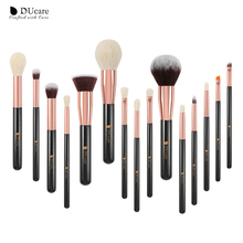 DUcare 15/27PCS Makeup brushes Professional Make up Natural hair Foundation Powder Highlight Brush Set Eyeshadow