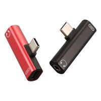 3 in 1 충전 USB C 오디오 케이블 변환기 이어폰 어댑터 유형 C ~ 3.5mm 오디오 어댑터