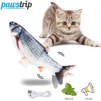 30cm Electronic Cat Toys Fish Catnip Toy USB Charging 3D Simulation Fish Toys For Cats Dog Chewing Playing Interactive Pet Toys electronic toys sound light walking robot dog robot toy educational toys for children musical lol electronic pet dog
