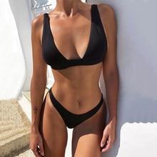 2021 Bikini Sexy Swimsuit Women Push Up Swimwear Two Piece Biqini Set Solid Bather Bathing Suit Swim Suit Female Bodysuit