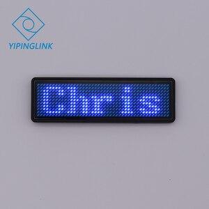 Image 3 - Badge publicitaire LED portable, 7 couleurs, plaque signalétique usb, rechargeable, programme de changement avec application mobile, led Bluetooth