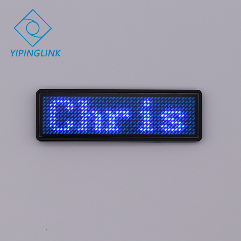 Programmable Led Name Badge Scrolling Led Digital Display 7 Colors Mini Led Display For Party Meeting Event Hotel Restaurant