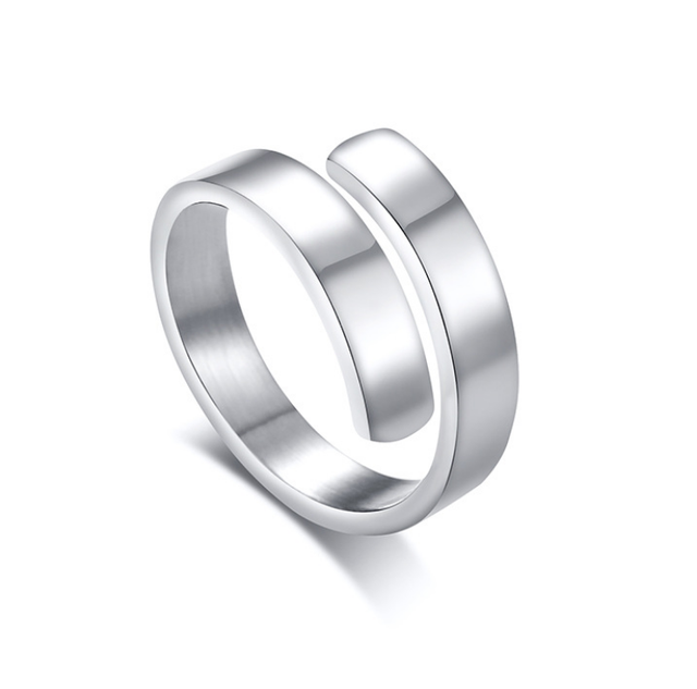 Silver Smooth Design Men or Women Ring Fashion Finger Ring  Jewelry Gift Nice NGXJZ 3