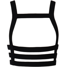 Goth Top Cage Bra Black Body Strap Open Chest harness Punk Sexy Lingerie Harness Bondage Belt Rave Woman