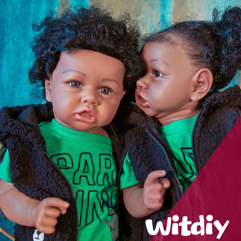 Witdiy Weste Grün T-shirtdark haut saskia 58CM bebe reborn reborn baby puppe Wiedergeburt puppe Baby wiedergeburt silikon puppe silikon