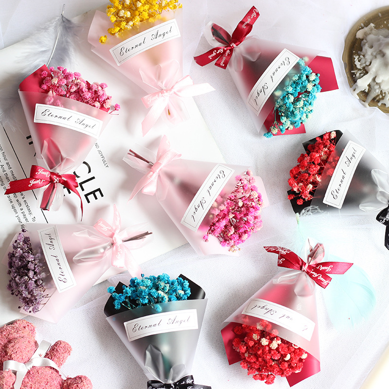 1 bunch of mini dried flowers wedding home decoration gift packaging full star