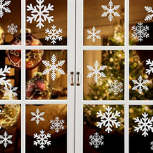 27Pcs Christmas Snowflake Window Sticker Winter Wall Stickers Kids Room Decorations for Home New Year  Glass