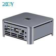 XCY Mini Komputer stancjonarny Intel Core i7 9850H i9 9880H procesor DDR4 RAM Win 10 Linux Gaming 4K UHD HTPC DP Minipc pulpit Komputer