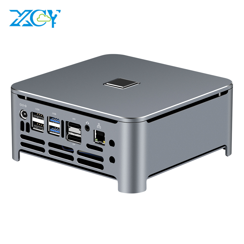XCY Mini PC Computer Intel Core I7 9850H I9 Processor DDR4 RAM Win 10 Linux Gaming 4K UHD HTPC HDMI DP Minipc Desktop Komputer