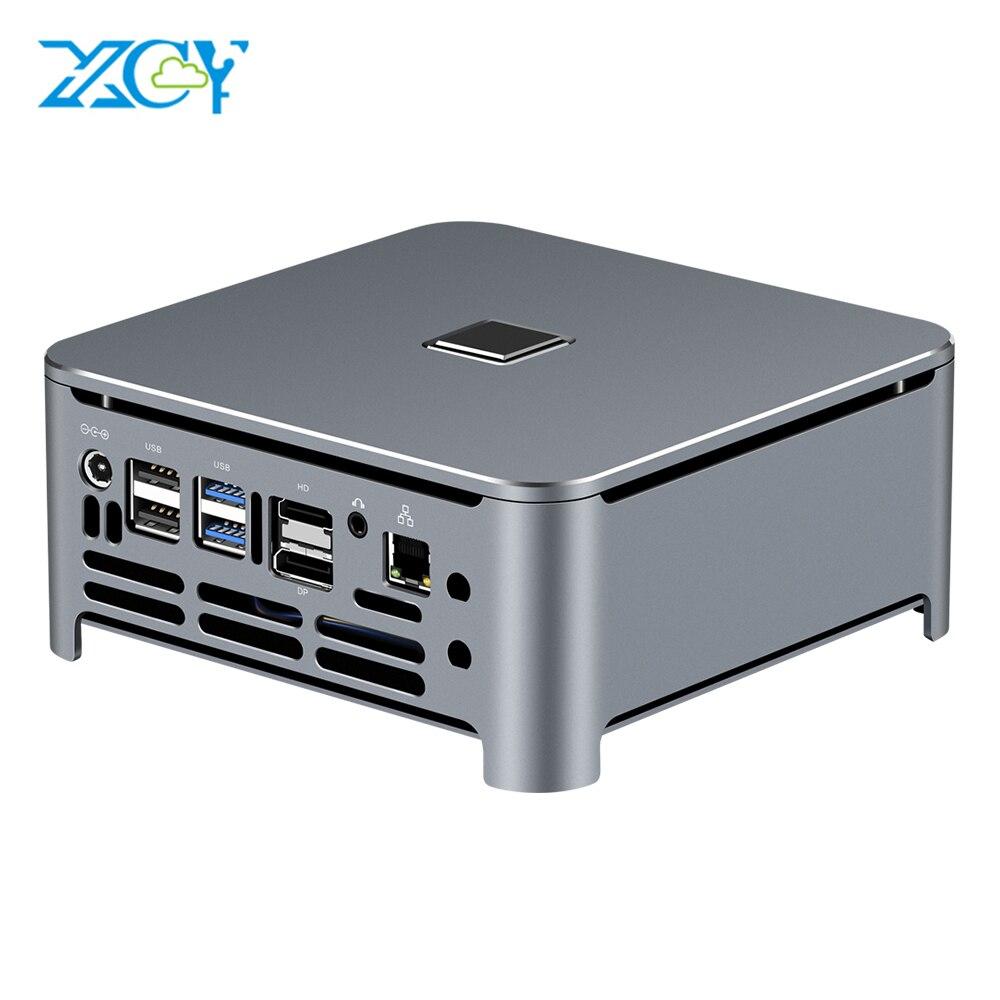 XCY Mini PC Computer Intel Core i7 9850H i9 9880H Prozessor DDR4 RAM Win 10 Linux Gaming 4K UHD HTPC DP Minipc Desktop Komputer