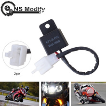 NS Modify 12A 2Pin Electronic LED Flasher Relay For Honda Kawasaki Suzuki Yamaha Motorcycle Motor Turn Signal Bulb Hyper Flash