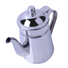 Coffee-Pot Teapot with Lid/Gooseneck-Spout Water-Kettle Mirror-Finish Stainless-Steel