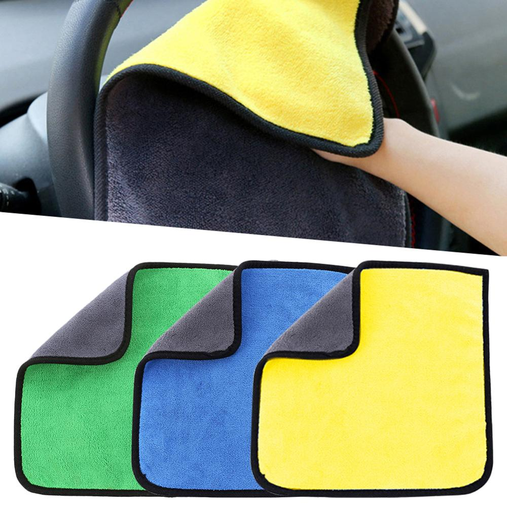 OLOMM 30x30/60CM Car Wash Microfiber Towel Car Cleaning Drying Cloth Hemming Car Care Cloth Detailing Car Wash Towel