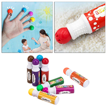8 Colors Dot Markers Paint Dauber Bingo Dabbers Washable Non-Toxic Water-Based Dot Markers for Kids Painting Art Craft Supplies