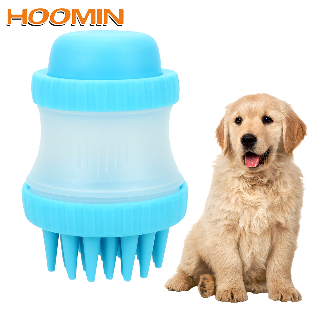 HOOMIN Palm-Sized Massage Brush Dog Accessories Comfortable Massager Shower Tool Pet Bathing Tool Cleaning Washing Bath