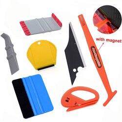 EHDIS Vinyl Wrap Tools akcesoria do wnętrza samochodu zestaw patyczek magnetyczny ściągaczka skrobak folia z włókna węglowego krajarka do naklejek Repair Tool na