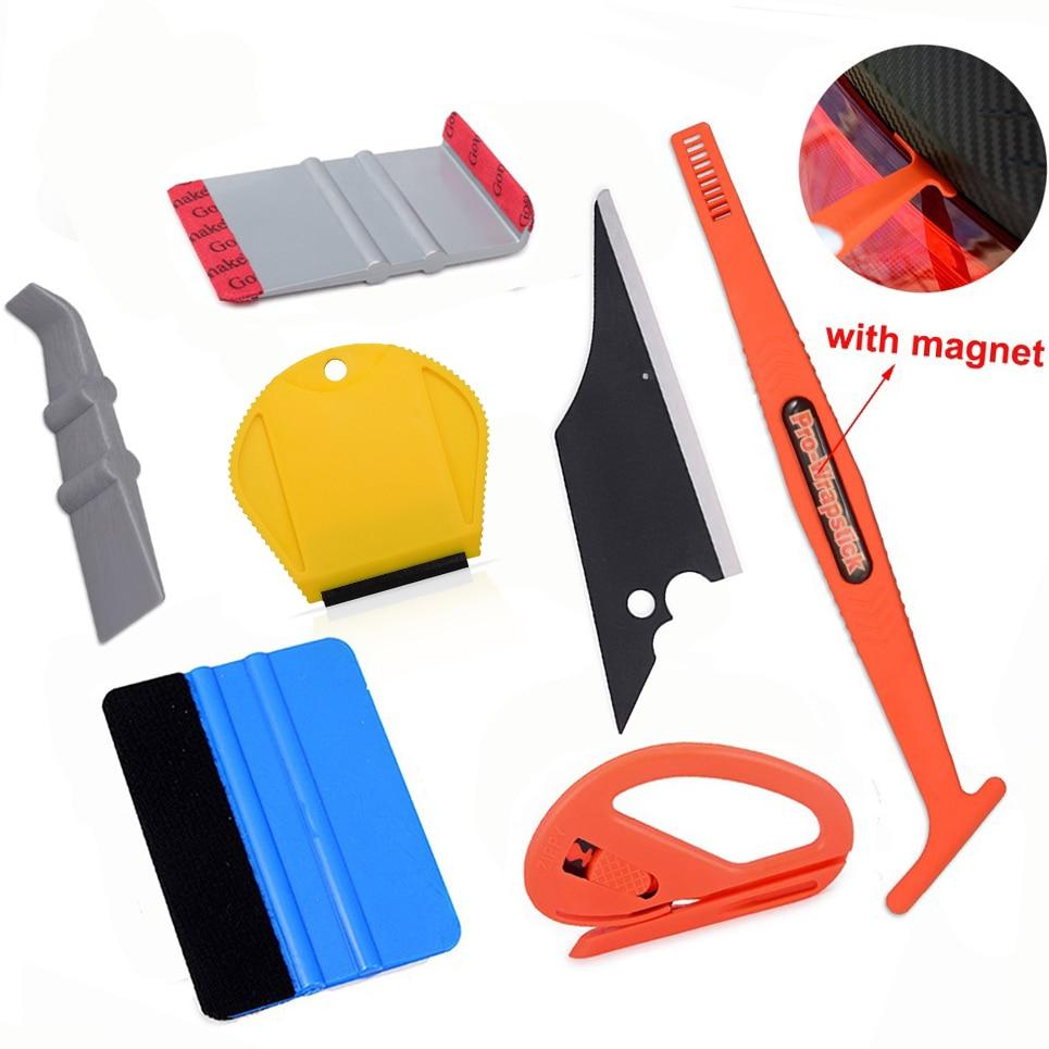 EHDIS Vinyl Wrap Tools Car Interior Accessories Kit Magnetic Stick Squeegee Scraper Carbon Fiber Film Sticker Cutter Repair Tool(China)