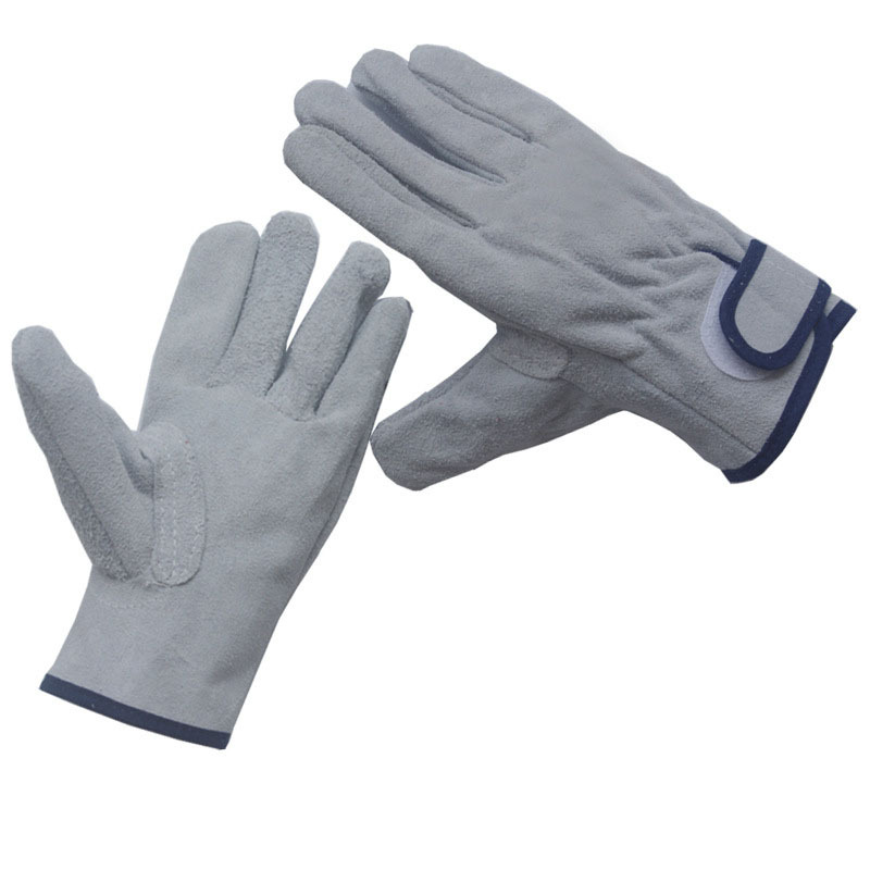 6 Pairs Durable Canvas Work Long Lining Gloves Labour Protective Safety Welder