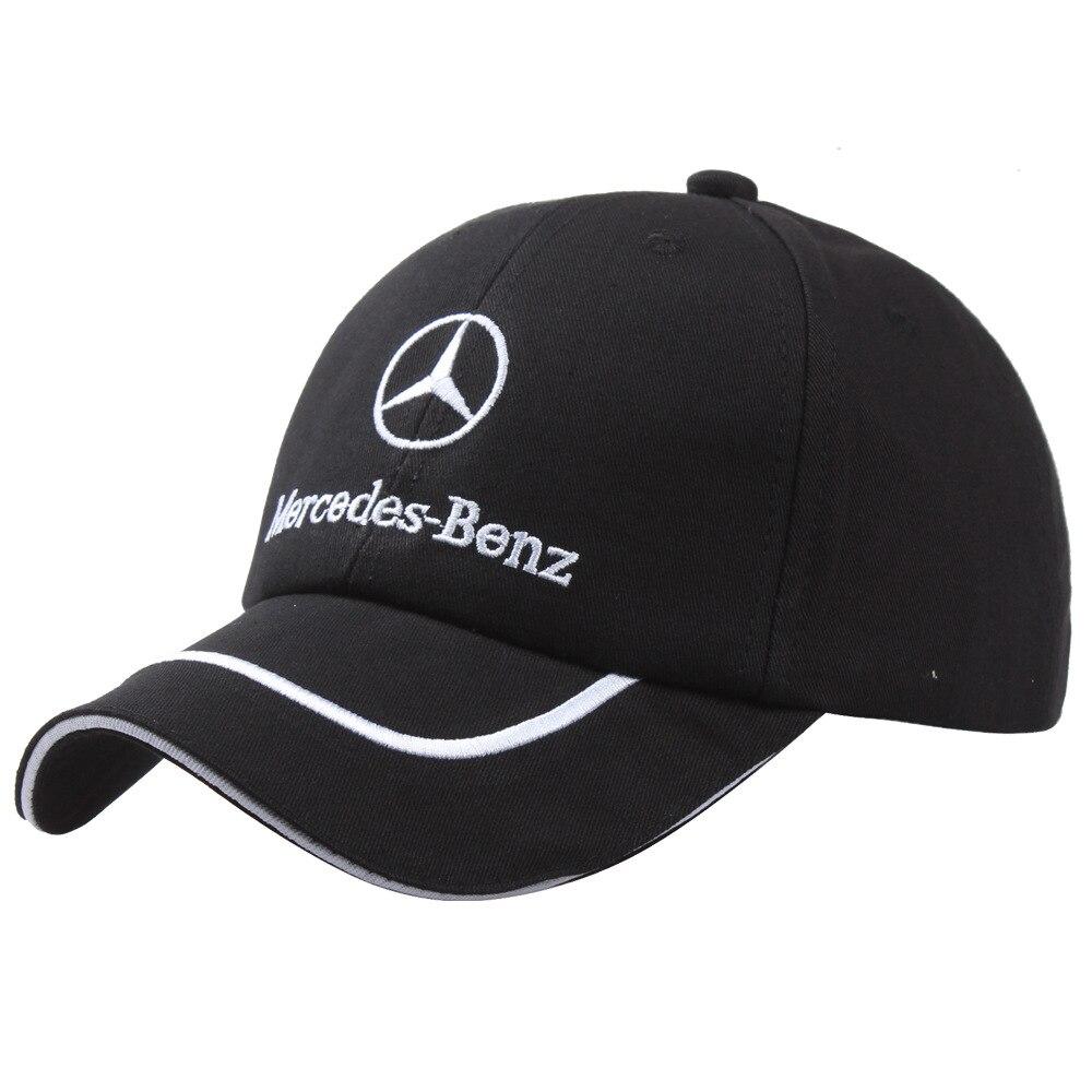 Spot car cotton   baseball     cap   F1 racing   cap     Cap   sport outdoor hats wholesale and retail Wild Joker Embroidery Adjustable balck