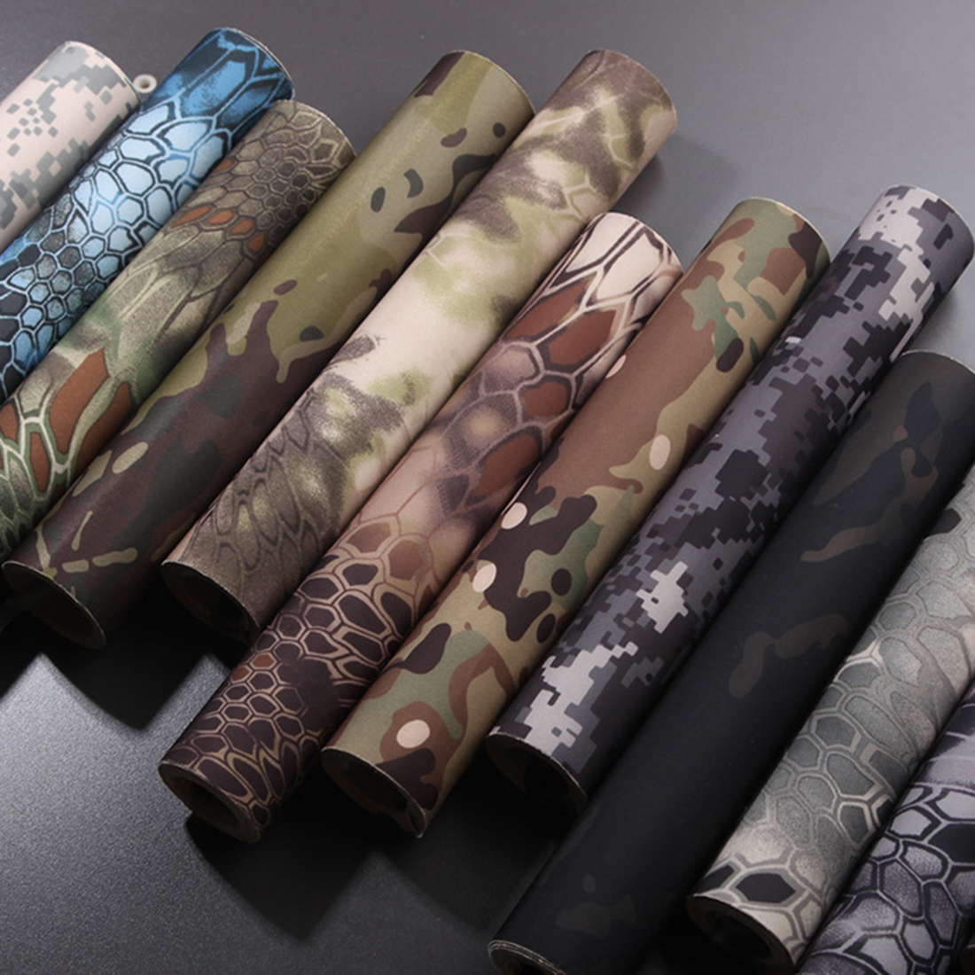 Modiker 30 X 150cm DIY Tactical Self Adhesive Elastic Camouflage Cloth Protective Camo Tape - Python Pattern Desert Color