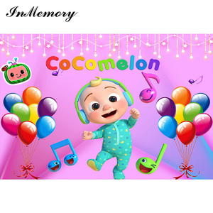 Image 2 - InMemory Music Party Photography Background Cocomelon Children Birthday Decorations Customize Vinyl Photo Backdrops Banner Props