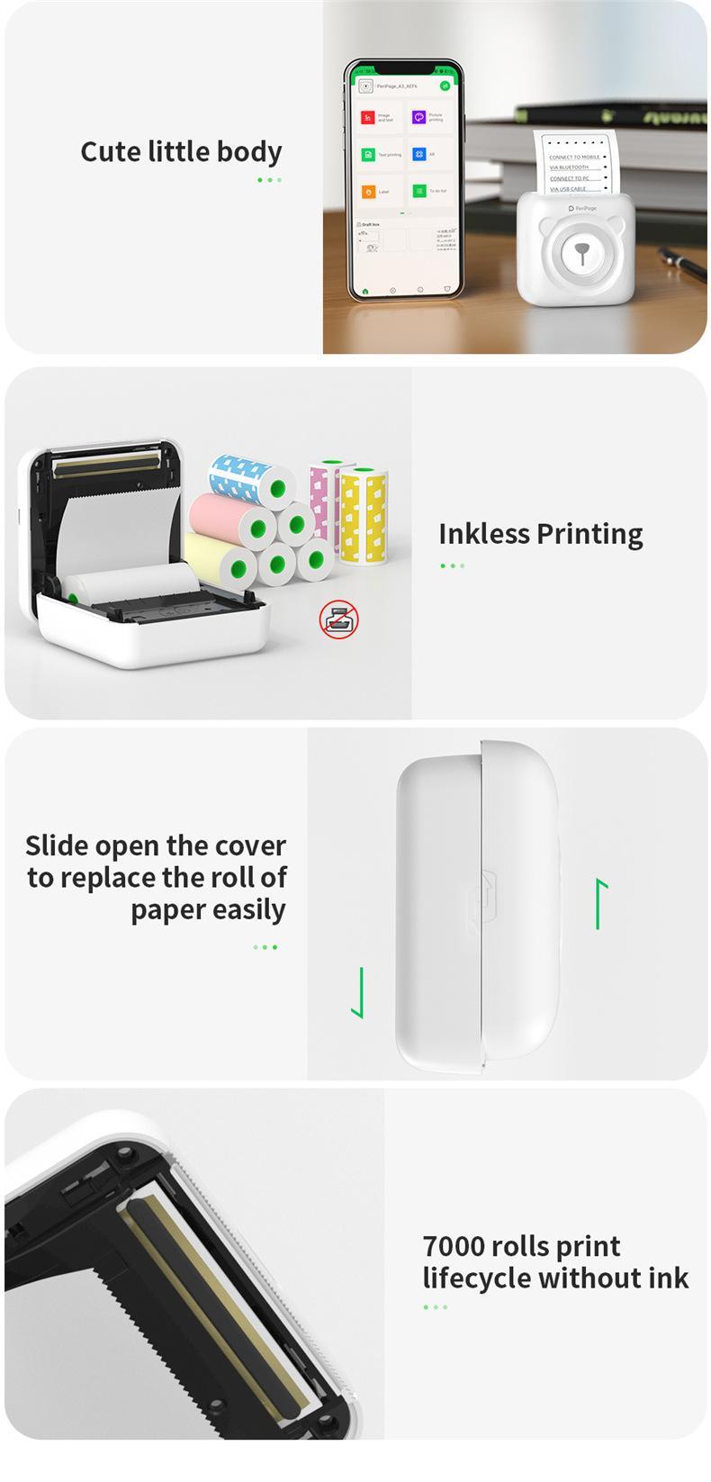 Wifi bolso impressora de fotos impressora térmica