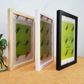 Nordic Simple Wooden Frame For Picture With Plastic Glass Photo Frames for Wall Picture Frames Wall Photo Frame Poster Frame creative cute wooden photo frame nordic mediterranean picture frame tabletop decoration valentines day gift