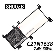 New 7.6V 38Wh C21N1638 Replacement Laptop Battery for ASUS VivoBook 14 X442UA X442UQ X442UR X442UF F442U A480U SHUOZB(China)