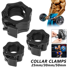 2 Pcs 25/30/50mm Spinlock Collars Barbell Collar Lock Dumbell Clips Clamp Weight Lifting Bar Gym Dumbbell Fitness Body Building
