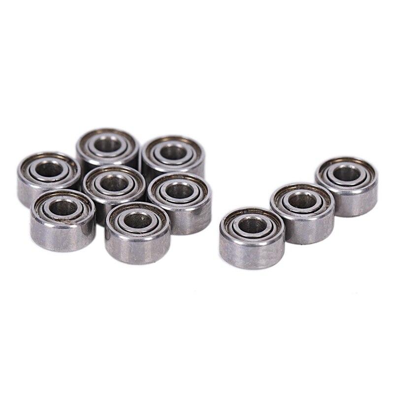10pcs Miniature Sealed Metal Shielded Metric Radial Ball Bearing Model: MR52-ZZ 2x5x2.5Mm Promotion