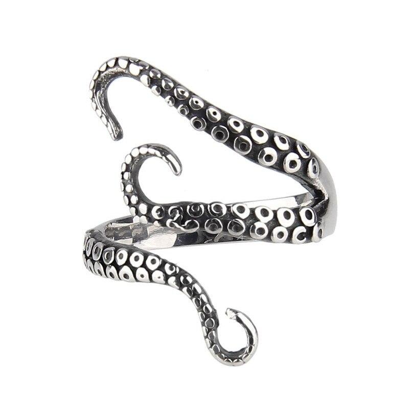 Наконечники осьминога из нержавеющей стали в стиле ретро открытое регулируемое кольцо для коктейвечерние