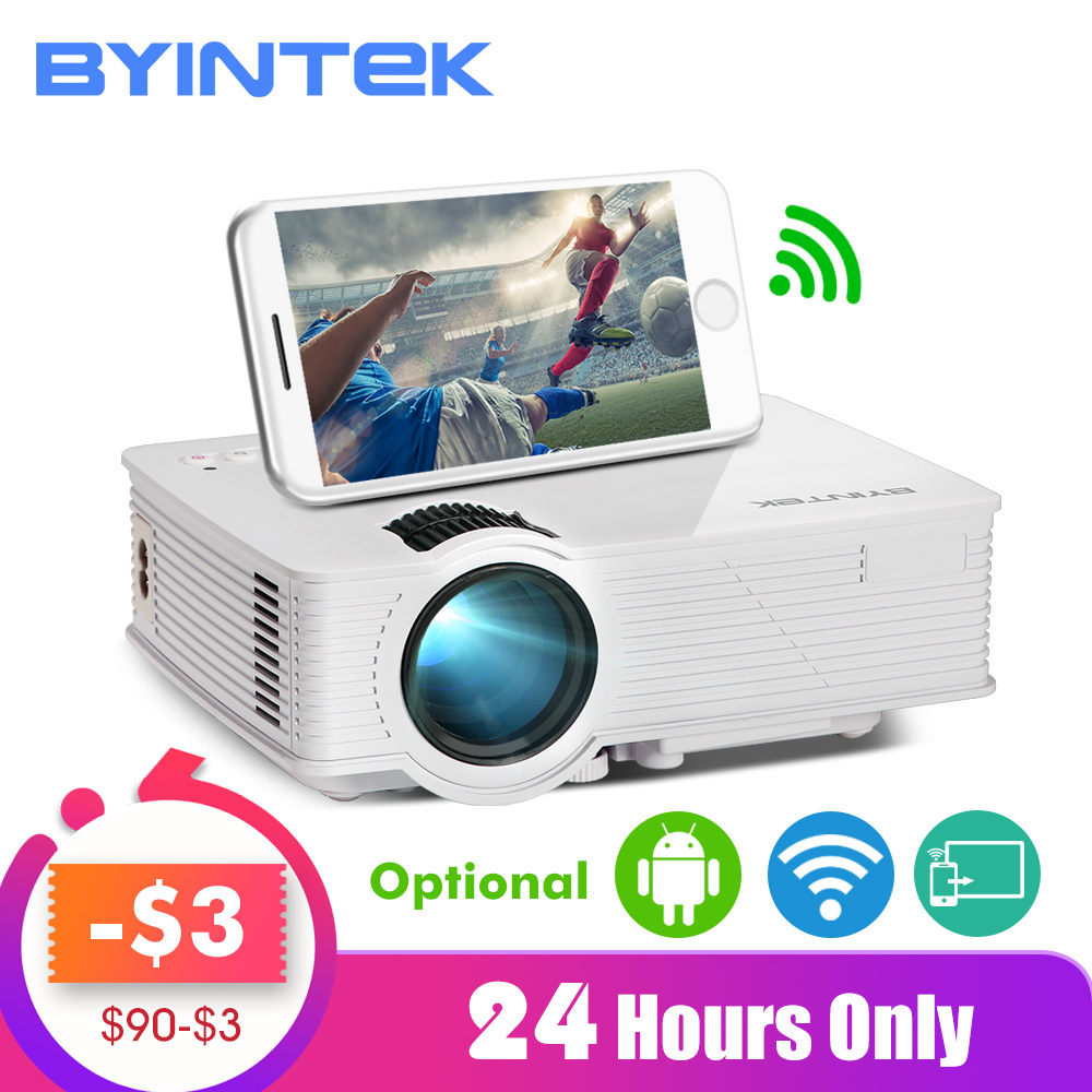 BYINTEK SKY BT140/BT140plus/BT140android Mini LED Projector HD Home Theater (Optional: Wireless Display For Iphone Smartphone)