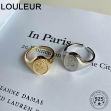 LouLeur Design 925 bague en argent Sterling coréen doré bague de tournesol pour les femmes de mode réglable bague femmes argent 925 bijoux