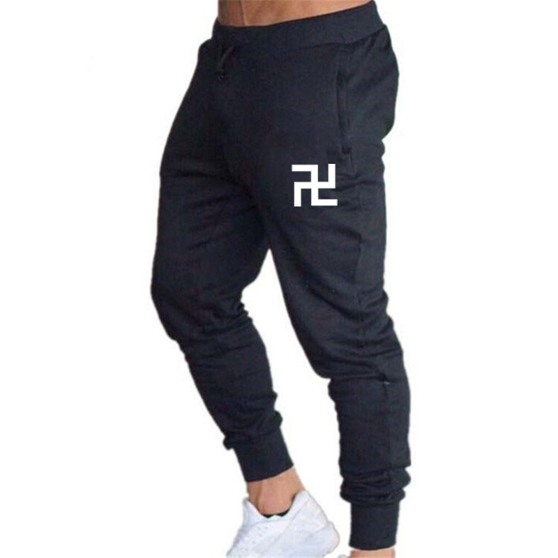 New Men's Brand Men's Trousers Casual Sports Pants Men's Gym Muscle Cotton Fitness Sports Hip Hop Stretch Pants Jogging Pants